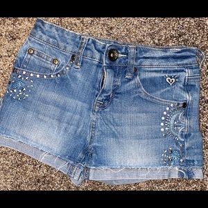 Justice Studs Blue Jean Shorts
